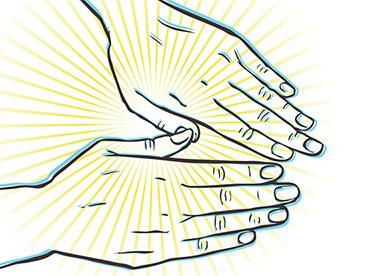 representation of arthritic hands
